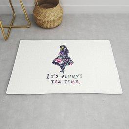 Alice floral designs - Always tea time Rug