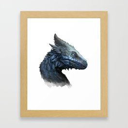 Sapphire Dragon Framed Art Print