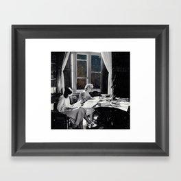 universal reading room Framed Art Print