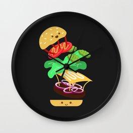 Extreme Burger Making Wall Clock