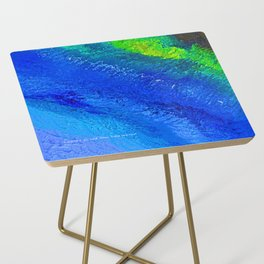"""""""Riptide #4"""" Oil Painting Side Table"""