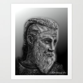 Ragnar Viking Art Print