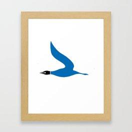 The Blue Goose Framed Art Print