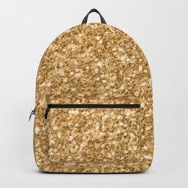 Trendy Gold Glitter Texture Print Backpack