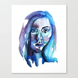 Watercolor portrait 1 Canvas Print
