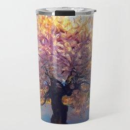 Blooming Tree Impressionist Painting Travel Mug