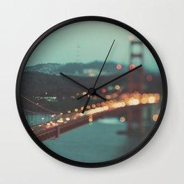 San Francisco Golden Gate Bridge photo, Sweet Light Wall Clock