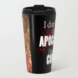 Zombies in a Red Dawn Apocalypse Travel Mug
