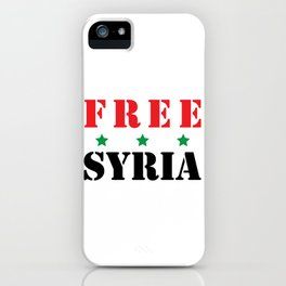 FREE SYRIA iPhone Case