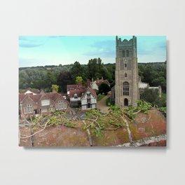 Church and Guildhall, Eye, UK Metal Print