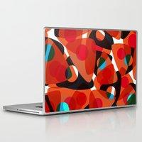70s Laptop & iPad Skins featuring orange 70s by Matthias Hennig