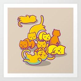 cats ! Art Print