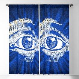 Shining Eye Retro Pattern Blackout Curtain