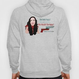 She Eats People Happy Print Hoody