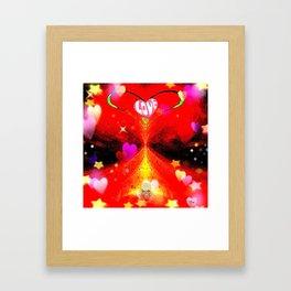 """Red Hot Love-a"" Framed Art Print"