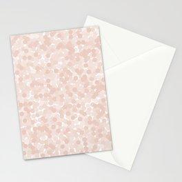 Pale Dogwood Polka Dot Bubbles Stationery Cards
