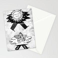 Sun / Pyramid walker combo Stationery Cards