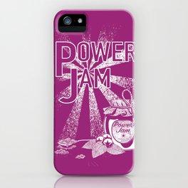 Power Jam graphic iPhone Case
