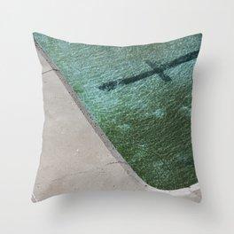 Clovelly Pool Throw Pillow