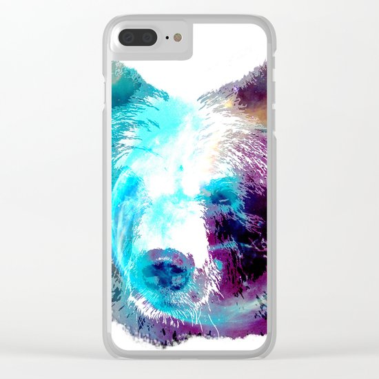 Space Bear Clear iPhone Case