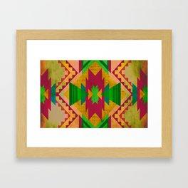 Native Blue Framed Art Print