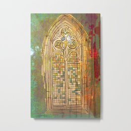 Get me to the Church on Time Metal Print