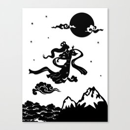 Chang Er flies to the Moon Canvas Print