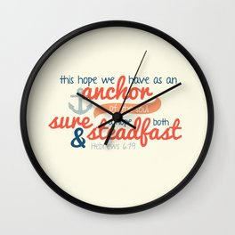Anchor of the Soul Wall Clock
