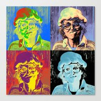 marylin monroe Canvas Prints featuring Pumpkin woman goes Marylin Monroe by Anki Hoglund