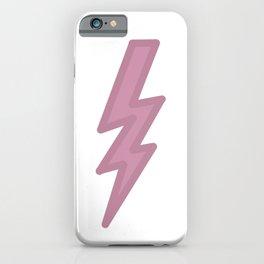 Dark Pastel Lightning (Purple) iPhone Case