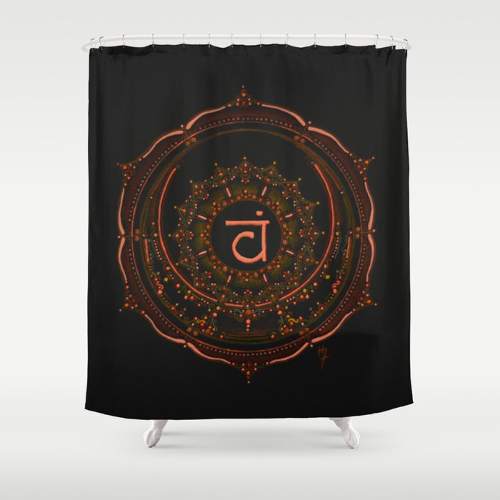 Sacral Chakra Shower Curtain