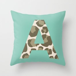 Feline Initial Throw Pillow