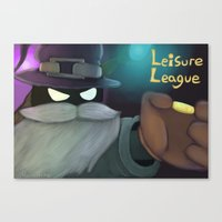league Canvas Prints featuring Liesure League by MsonArts