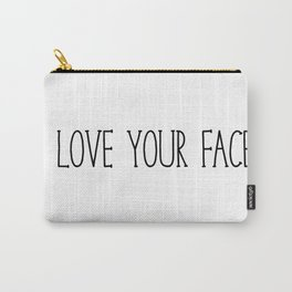 I Love Your Face - Black and White Carry-All Pouch