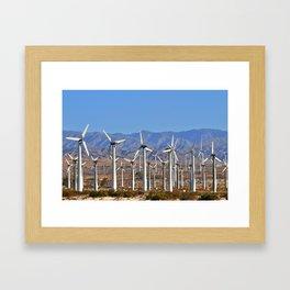 Windmills Palm Springs California  Framed Art Print