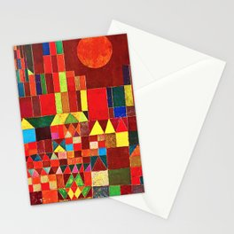 """Paul klee """" Castle and Sun """" Stationery Cards"""