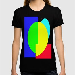 GETTING IN SHAPE - FUN SHAPED GEOMETRIC MULTI COLOURED DESIGN T-shirt