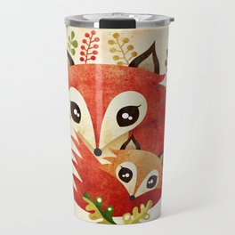 Fox Mom & Pup Travel Mug