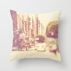 a memory. downtown Los Angeles photograph Throw Pillow