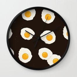 Breakfast eggs Wall Clock