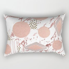 Rose Gold Collage Rectangular Pillow