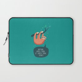 Sloth life, slowly Laptop Sleeve