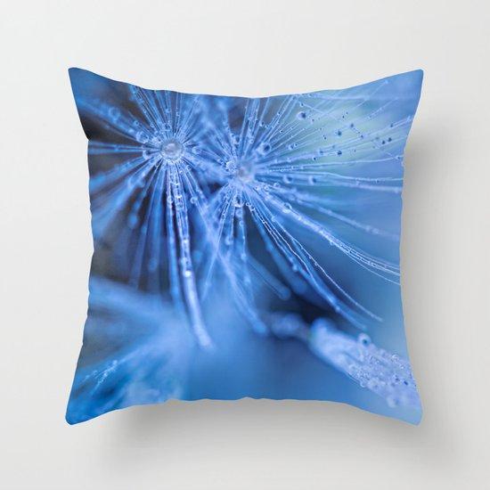 dandelion fluff throw pillow by bob daalder society6. Black Bedroom Furniture Sets. Home Design Ideas
