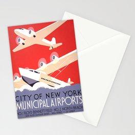 Nostalgia New York municipal airports Stationery Cards