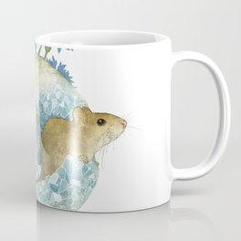 Field Mouse and Celestite Geode Coffee Mug