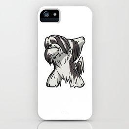 Funny Dabbing Lhasa Apso Dog Dab Dance iPhone Case