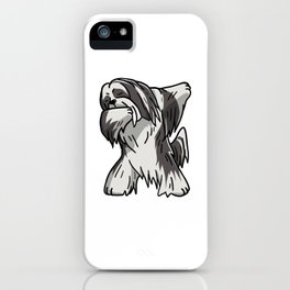 Funny Dabbing Lhasa Apso Dog Dab Dance iPhone Case