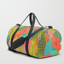 Saturated Tropical Plants and Flowers Duffle Bag