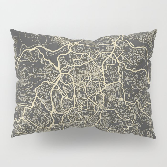 Jerusalem Map Pillow Sham