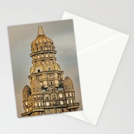 Salvo Palace Exterior View, Montevideo, Uruguay Stationery Cards
